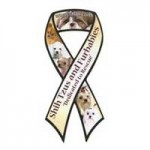Shih Tzus and Furbabies Ribbon Magnet