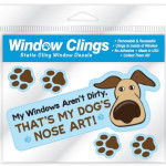 window clings dogs art