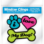 window clings i love my dog